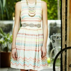 [Anthropologie] Sunglow Stripes Dress